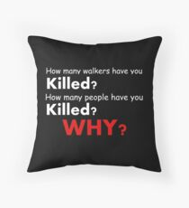 The walking dead - Questions Throw Pillow