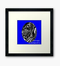 ( PLANET  BLACK ) ERIC WHITEMAN ART  Framed Print