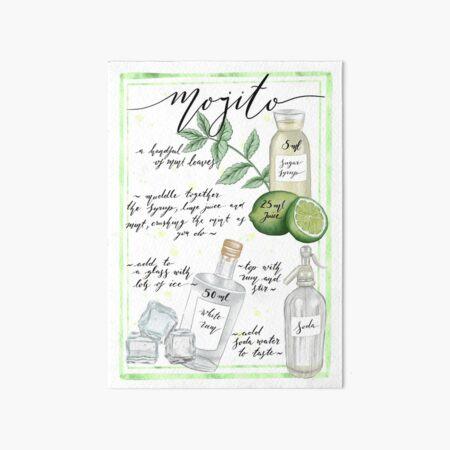 Mojito Art Board Print