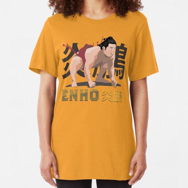 "Sumo Wrestler ""Enho"" Rikishi Enho Akira 炎鵬 Slim Fit T-Shirt"