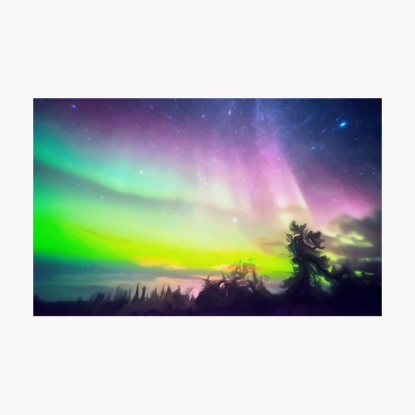Aurora Borealis Northern Lights Photographic Print