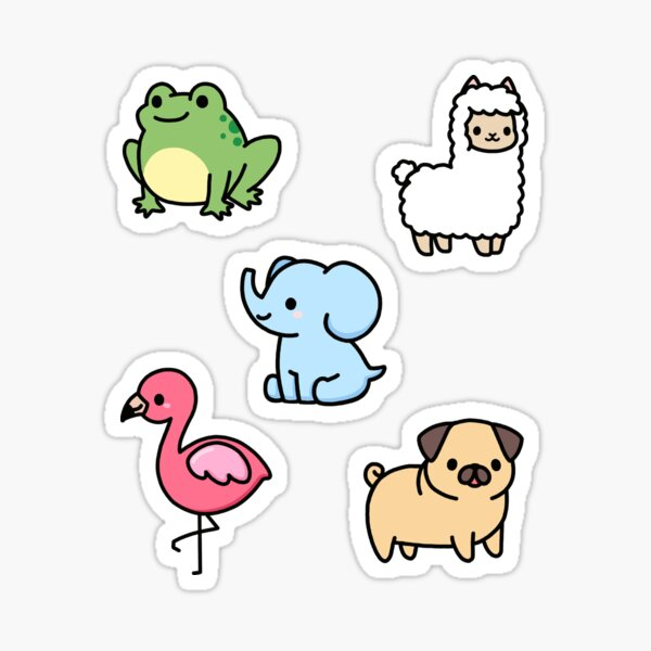 Cute Animal Sticker Pack 4 Sticker
