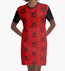 Errorface Skull Spider 2 Graphic T-Shirt Dress