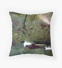 Sage and Plum Textured Abstract Throw Pillow