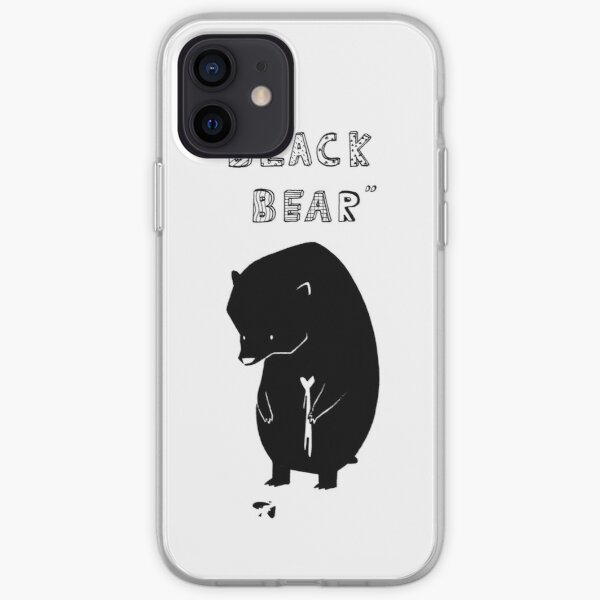 Black Bear iPhone Soft Case