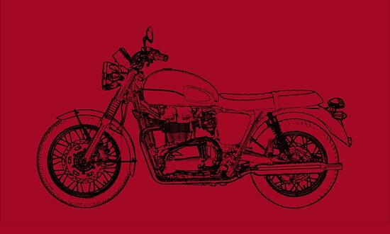 Triumph Bonneville T100 Motorcycle Posters By Iain Harper Redbubble
