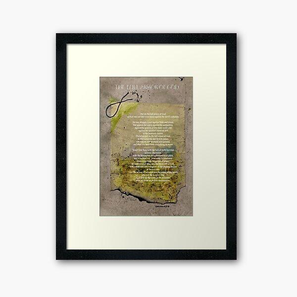 The Full Armor Of God Framed Art Print