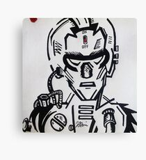 Cyber Face Canvas Print