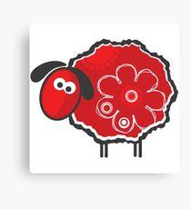 Kawaii Lucky Sheep Vector Illustration Canvas Print