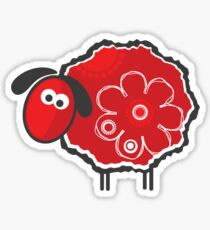 Kawaii Lucky Sheep Vector Illustration Sticker