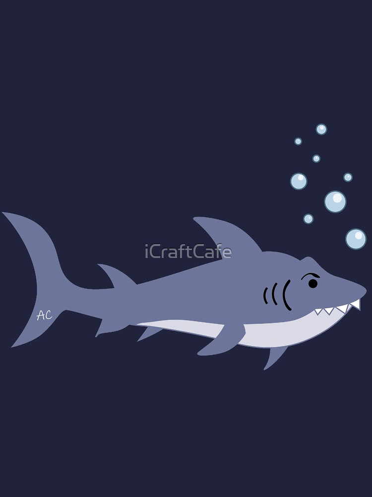 Swimming Sharks Pattern by iCraftCafe