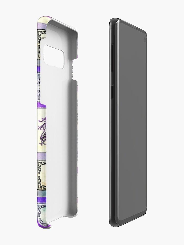 """Alternative Ansicht von """"Dragon Lady"""" Mah Jongg - Version zwei Hülle & Klebefolie für Samsung Galaxy"""