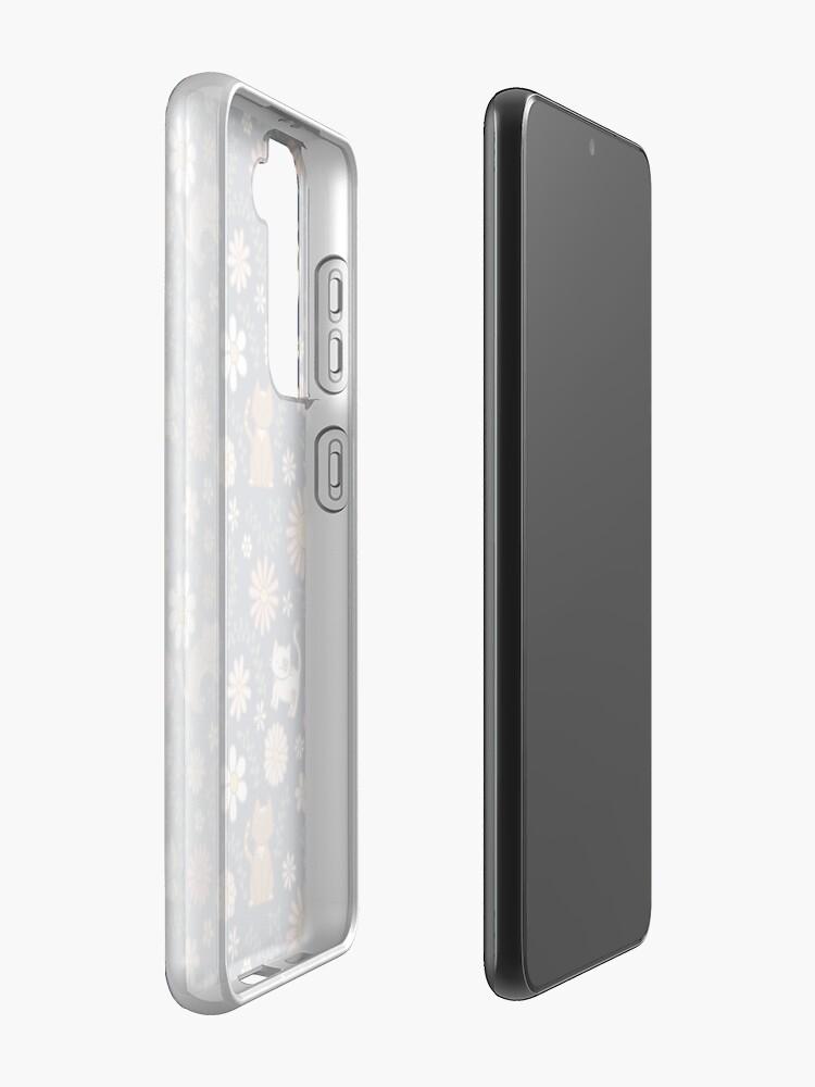 Alternate view of Flower Meower (Navy) Case & Skin for Samsung Galaxy