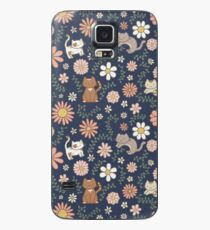 Funda/vinilo para Samsung Galaxy Flower Meower (Marina)