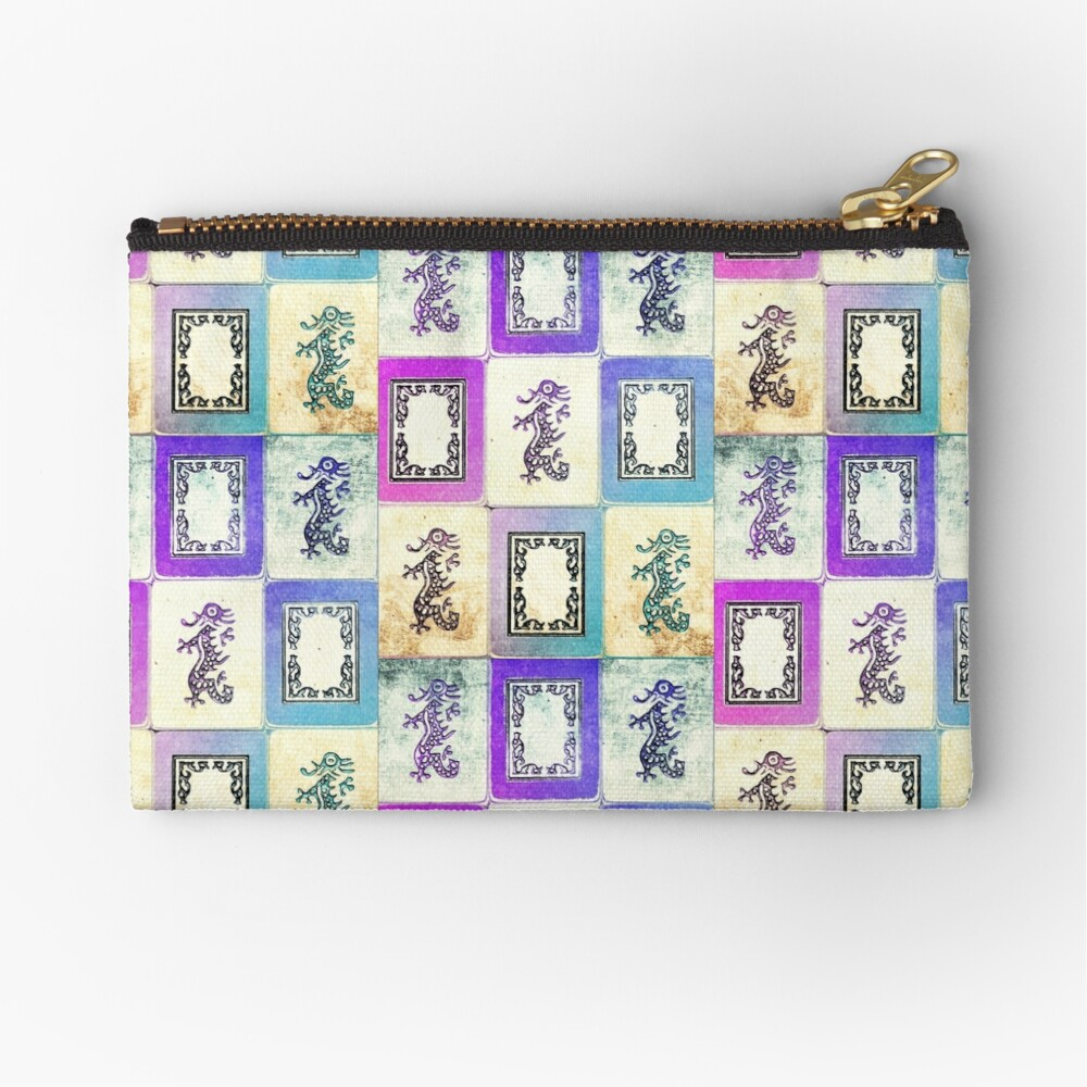 """Dragon Lady"" Mah Jongg - version two Zipper Pouch"