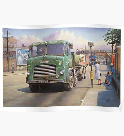 Leyland Octopus Tower Hill Transport Poster