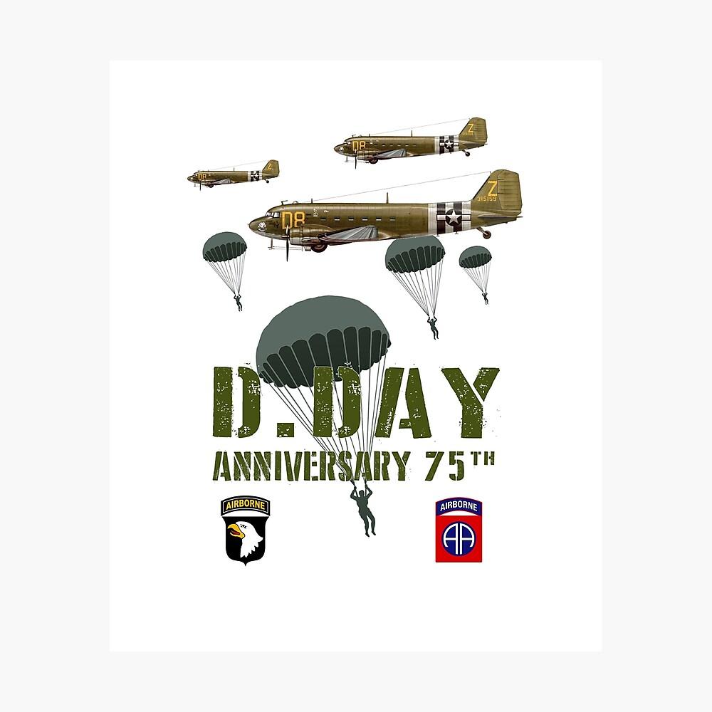 75 ° aniversario D-Day WWII 4 Lámina fotográfica