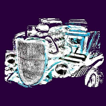 Hot Rod (inverted colours) (alpha bkground for dark tshirts) by AbsinthTears
