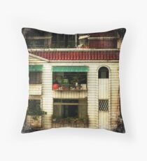 Red Tiled Roof Throw Pillow