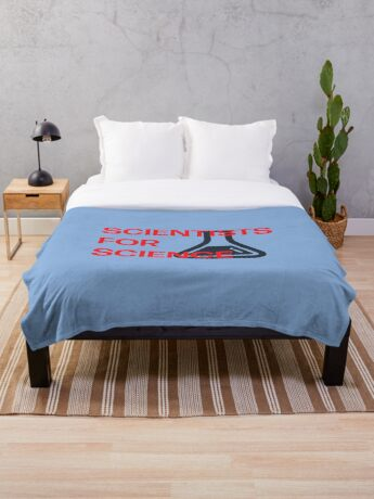 Scientists for Science Throw Blanket