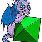 D08 Dragon Sticker by UncaLar