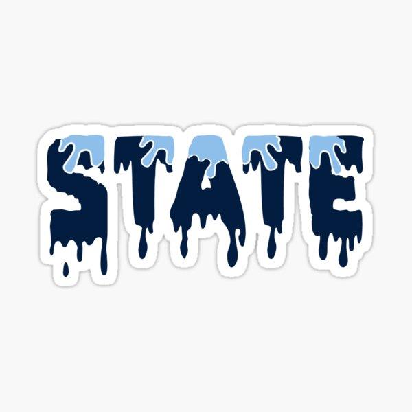 State dripping Sticker