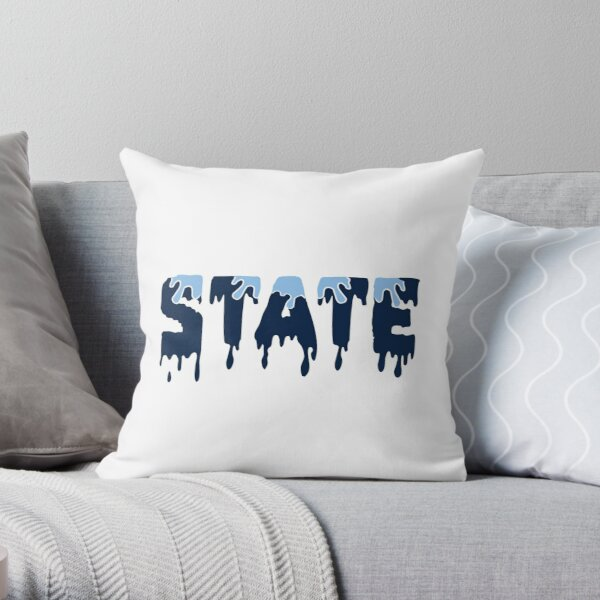 State dripping Throw Pillow