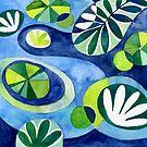 Modern Pond by Janet Broxon