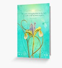 We make a living by... Greeting Card