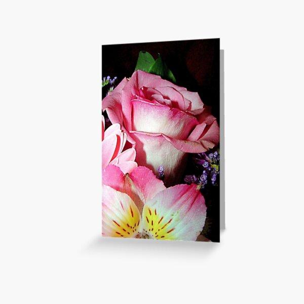 Pink on Black Greeting Card