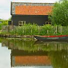 Reflecting House Boat by Richie Wessen