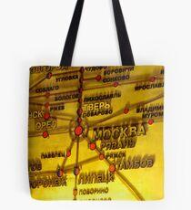 Railway Map Tote Bag