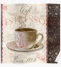 Patisserie Espresso Coffee Cup Poster