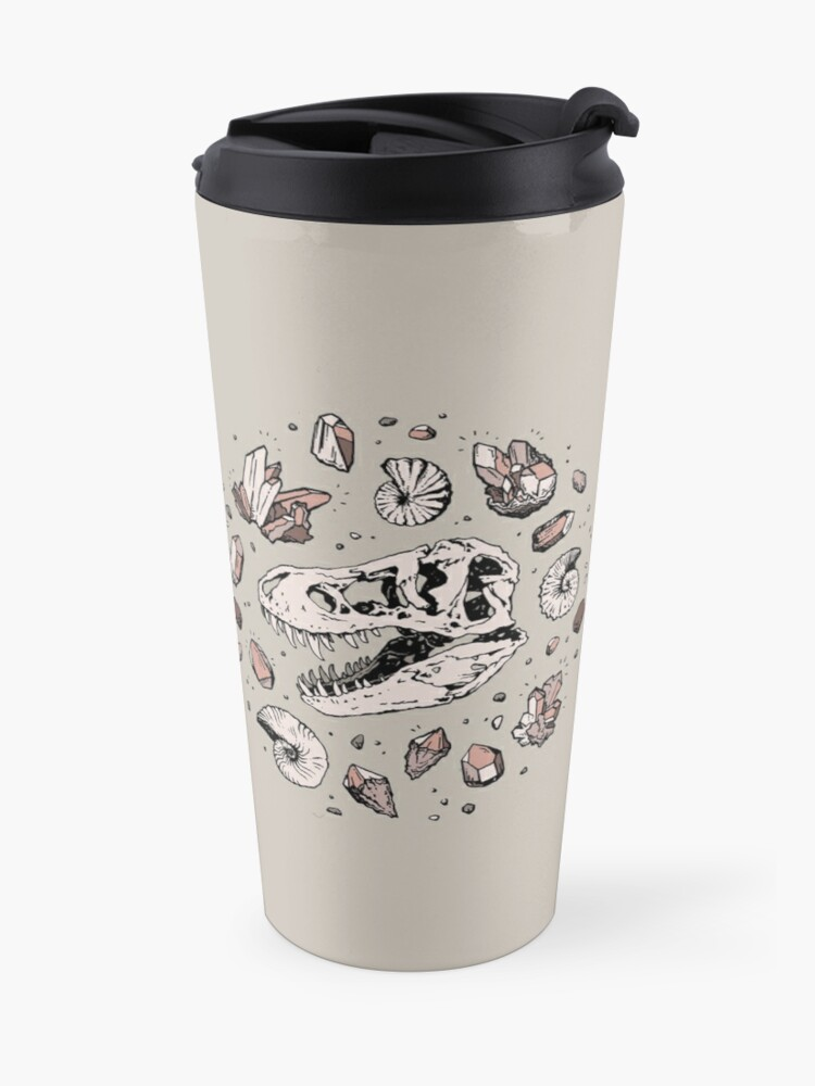 Alternate view of Geo-rex Vortex | Rose Quartz Travel Mug