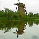Windmill in Kinderdijk Holland by Richie Wessen