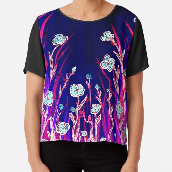 Growing Together - Flowers Chiffon Top