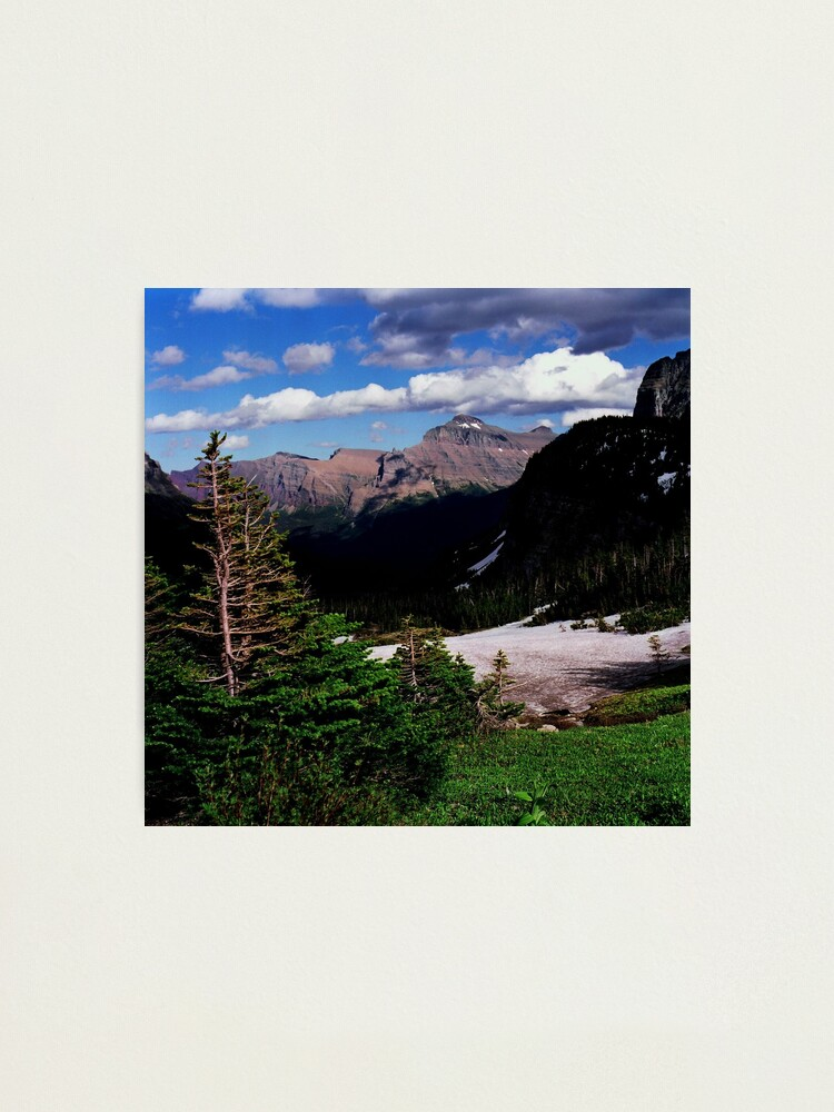 Alternate view of Logan's Pass, Glacier N.P., Montana Photographic Print