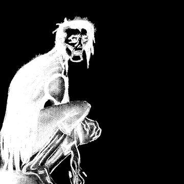 Gothic Gargoyle Perch (full alpha in white) by AbsinthTears