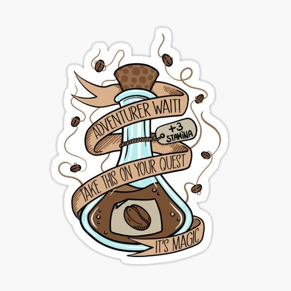 Magischer Kaffeetrank Sticker