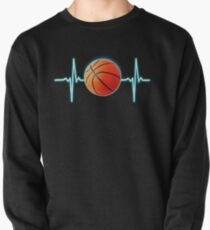 Basketball Heartbeat Basketball player and fans gifts Pullover
