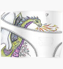 Dragon In My Pants Fantasy Tattoo Poster
