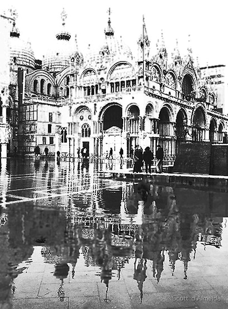 ST  MARK  FLOODS  IN B/W by Scott  d'Almeida