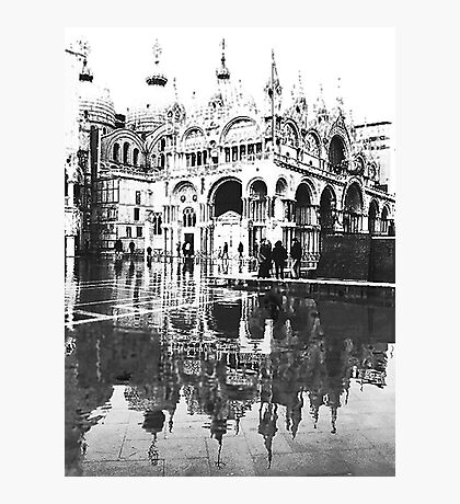ST  MARK  FLOODS  IN B/W Photographic Print