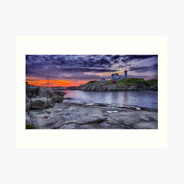 Dawn at the Nubble, Maine 5 Art Print