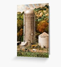Kentucky Silo & Horse Greeting Card
