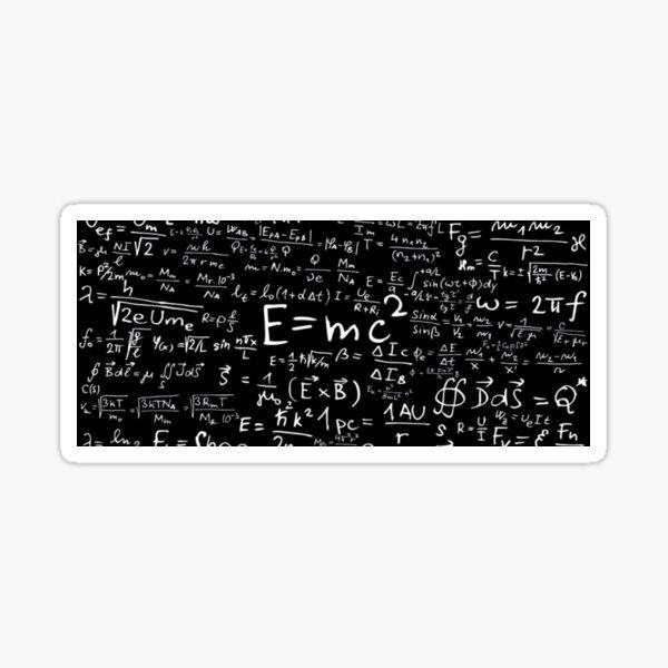 maths Einstein theory E = mc2 Sticker