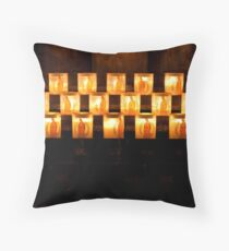 Candles, Notre Dame de Paris Throw Pillow