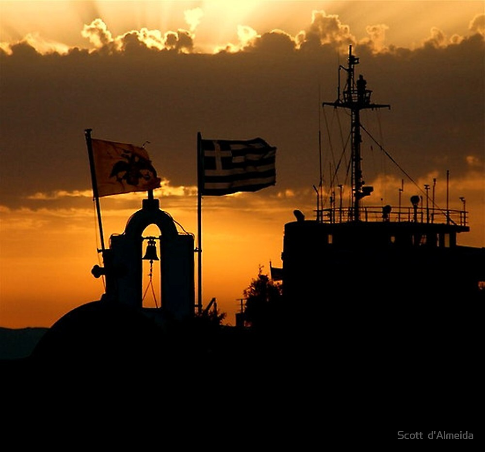 GREEK ISLANDS - KNOWN FOR ITS SUNSETS by Scott  d'Almeida