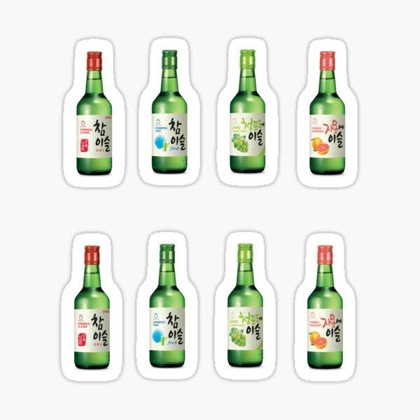 Pegatinas Soju Jinro Chamisul - Bebidas del Mundo Pegatina