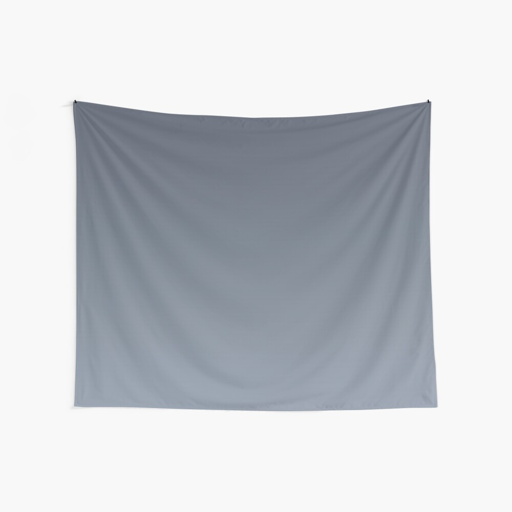 Gradient color: Gray Wall Tapestry